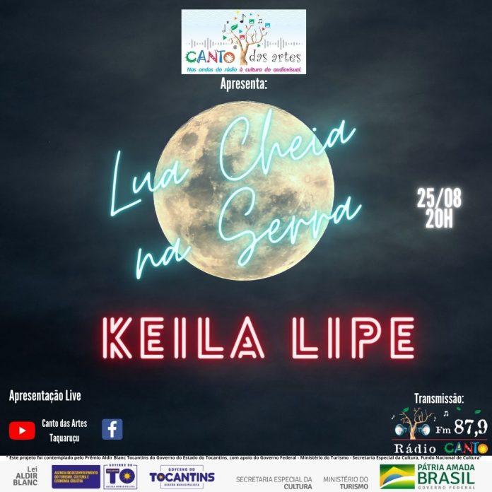 """Live musical do projeto """"Lua cheia na serra"""" chega na quinta edição com participação da cantora Keila Lipe."""