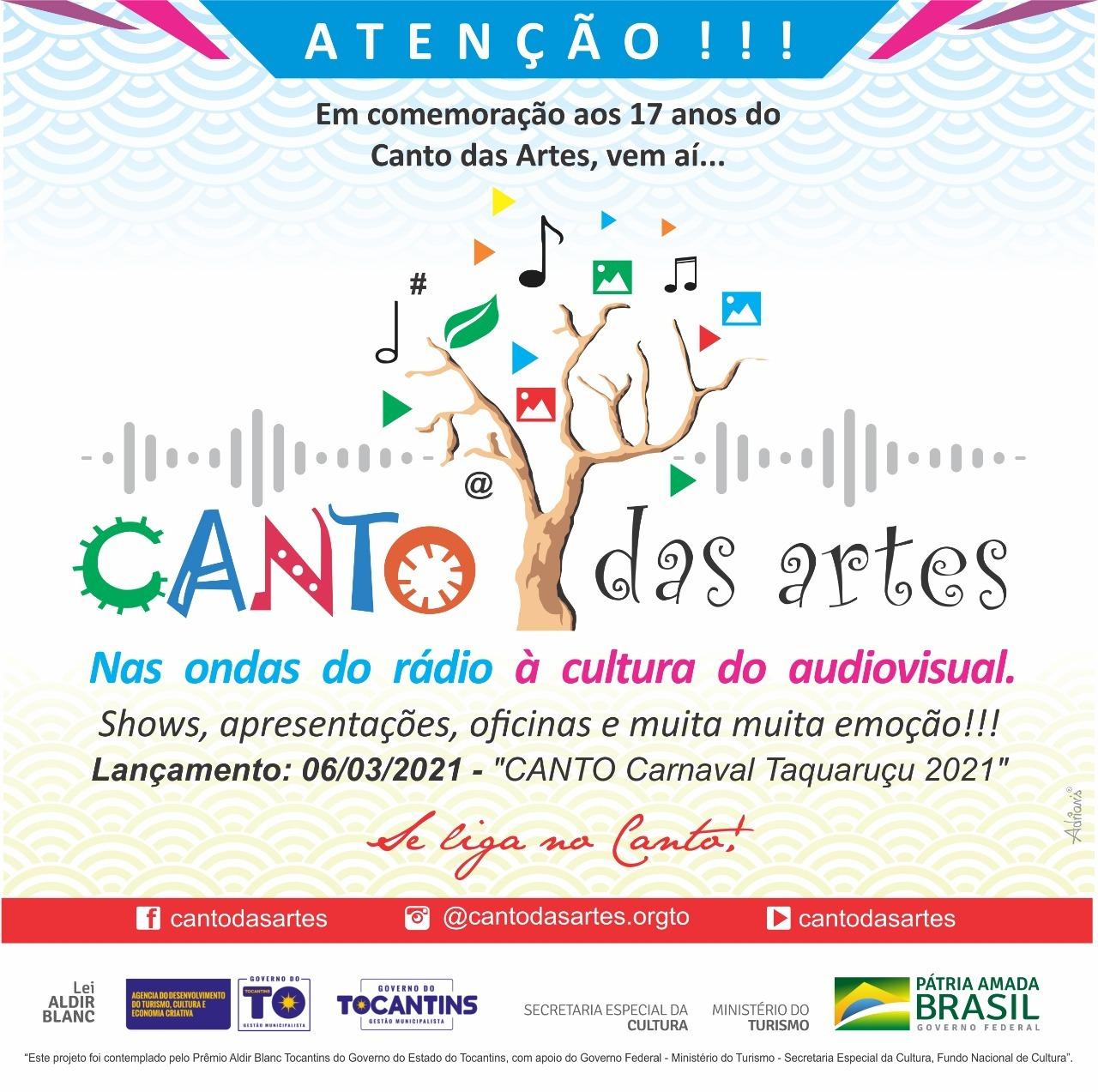 Com shows online e oficinas, série Canto
