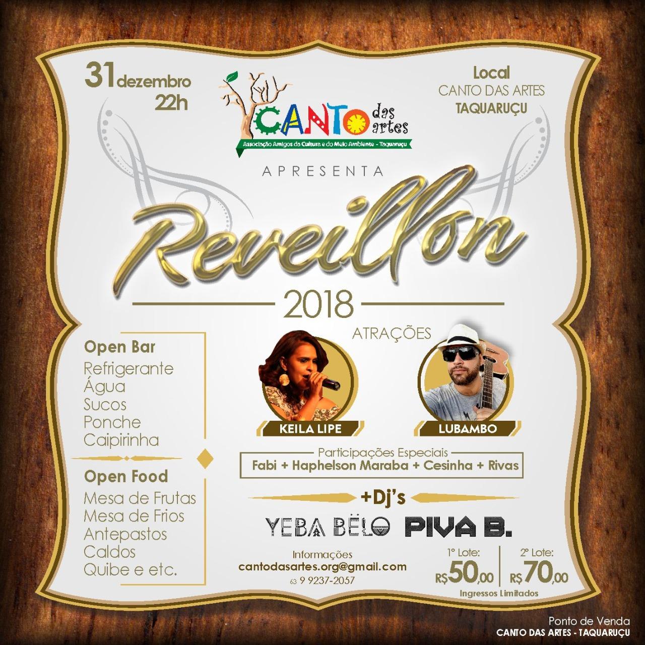 RéVEILLON 2018 - Canto das Artes - Taquaruçu