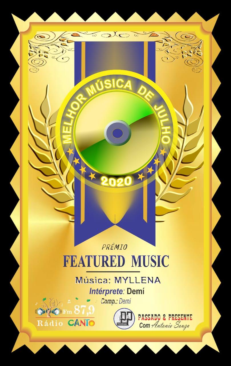 Prêmio FEATURED MUSIC 07/2020 - Programa Passado & Presente