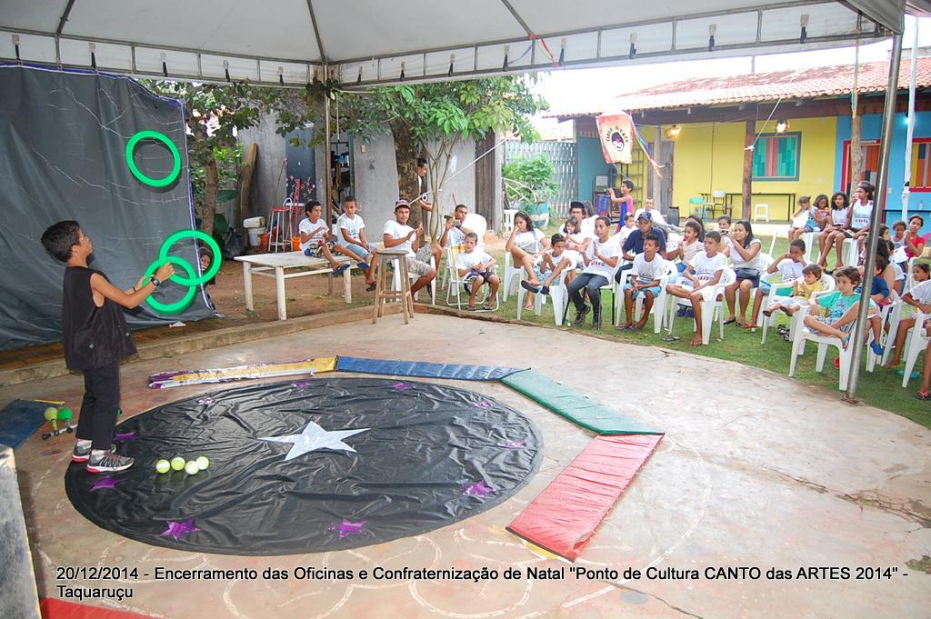 Encerramento das Oficinas do Ponto de Cultura Canto das Artes 2014 e Confraternização Natal